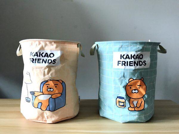 kakaofriends棉麻聚酯收納籃_01