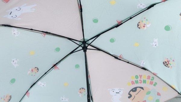 蠟筆小新彎把折疊雨傘_07
