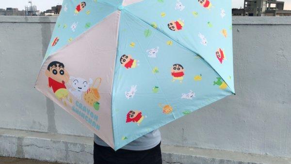 蠟筆小新彎把折疊雨傘_02
