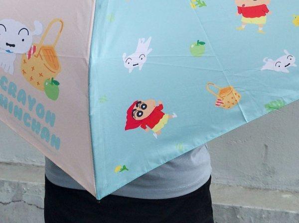 蠟筆小新彎把折疊雨傘_03