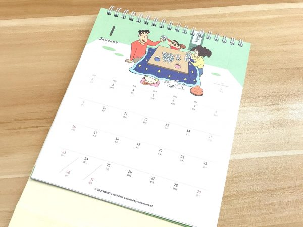 2022年蠟筆小新桌曆_06