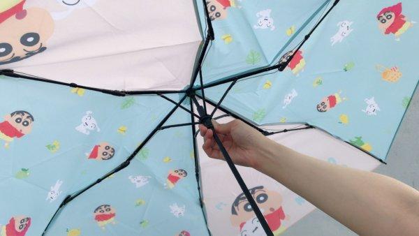 蠟筆小新彎把折疊雨傘_06