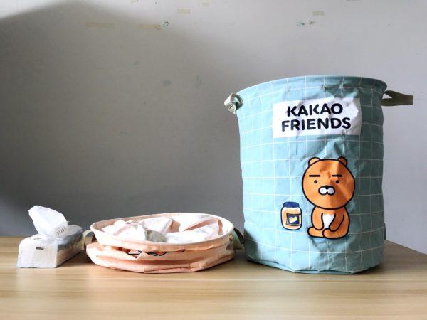kakaofriends棉麻聚酯收納籃_09